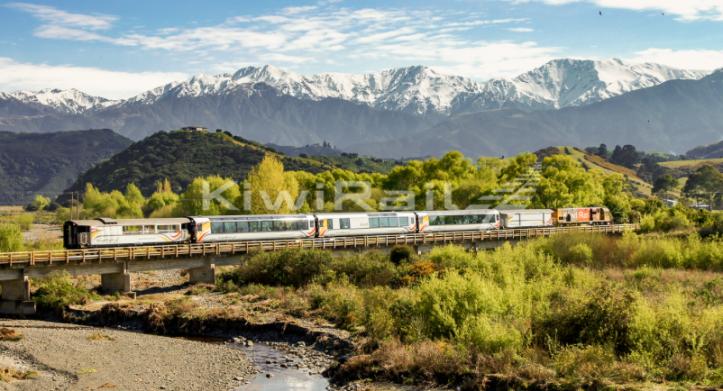 Coastal Pacific train, New Zealand ...