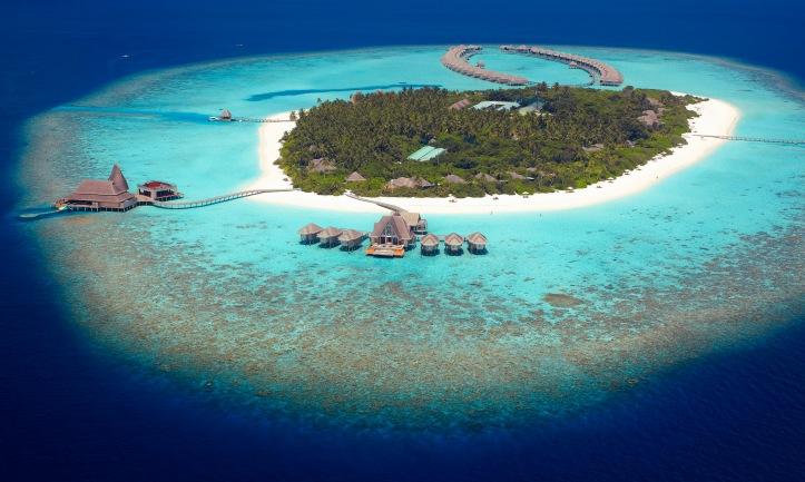 anantara kihavah maldives aerial view