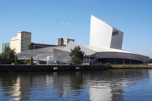 The Imperial War Museum North was designed by internationally-renowned architect Daniel Libeskind in his characteristic 'defragmented' style, intended as a metaphor for a world shattered by war