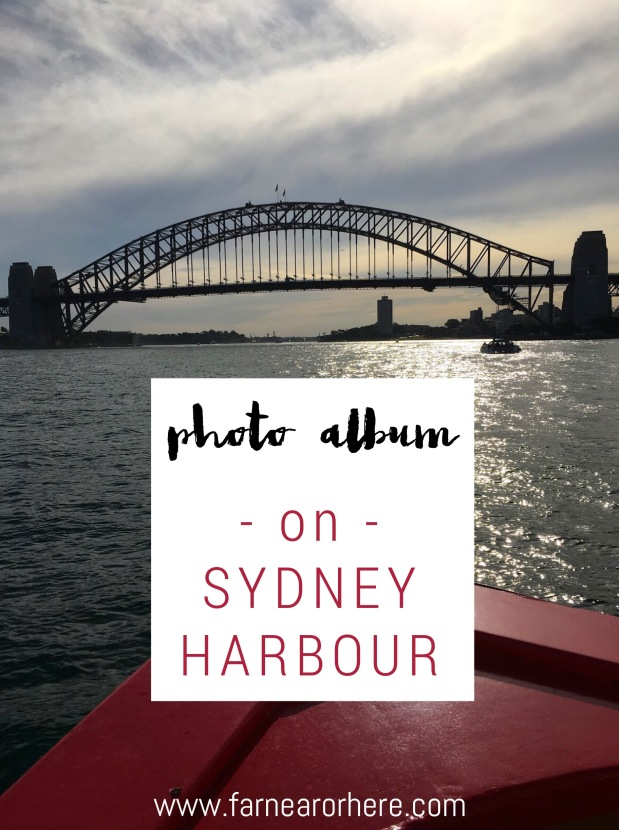 An photo album from a Sydney Harbour ferry ride. Australia.