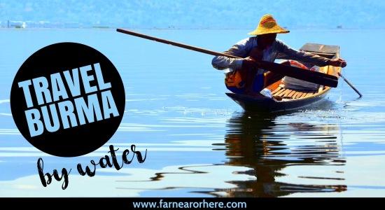 Explore Burma by water ...