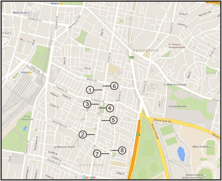 Surry HIlls map