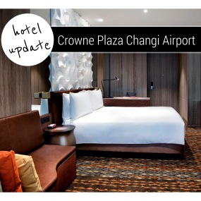 Singapore's luxury airport hotel the Crowne Plaza Changi Airport gets a designer addition...