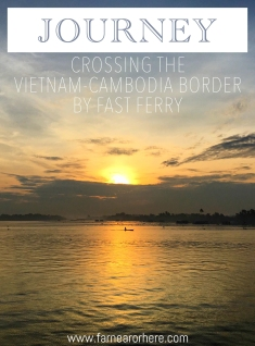 Crossing the Vietnam-Camboadiag the Mekong River from Chau Duc to Phnom Penh