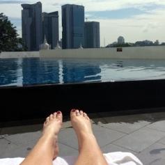 Swimming pool in the Tower Wing The Majestic Hotel, Kuala Lumpur.