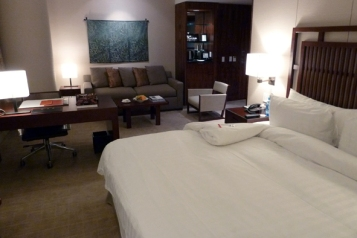 A suite at the Shangri-La Vancouver. Hotel, Vancouver, Canada