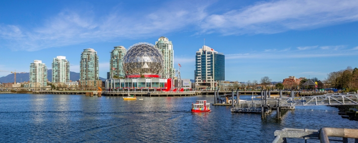 Science World at Creekside Park, Vancouver, Canada.