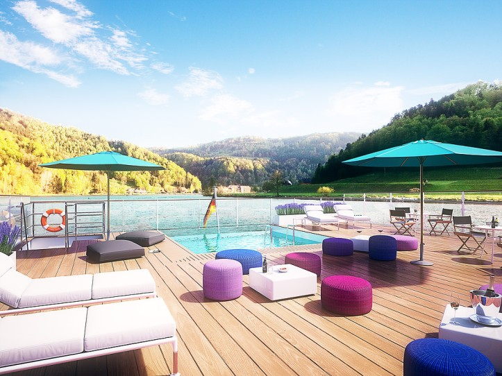 A pool deck for provence for Pool show lyon france