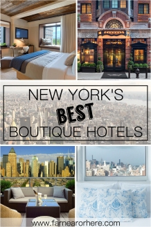 New York's best boutique hotels...