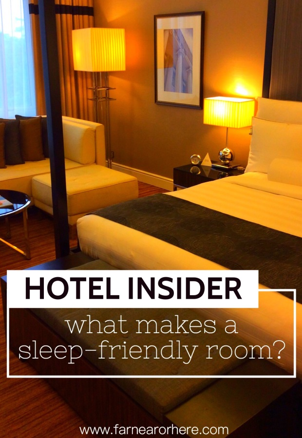 When it comes to hotels, what makes a sleep-friendly room?