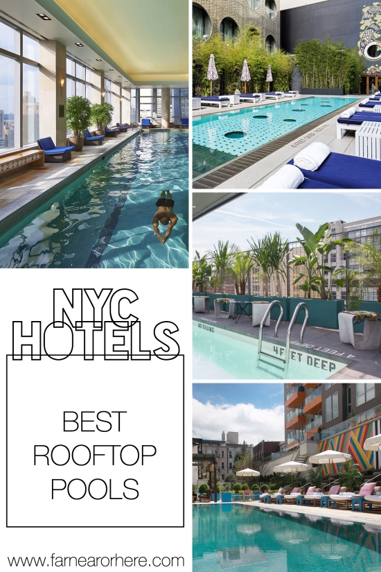 New York hotels with cool rooftop pools...