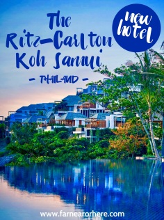 Thailand's newest hotel The Ritz-Carlton Koh Samui...