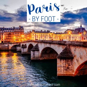 Exploring Paris by foot ...