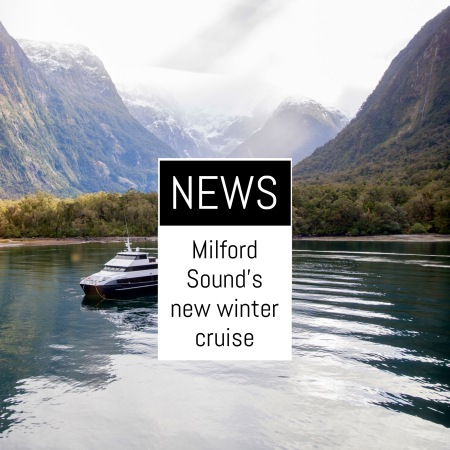 New winter cruise in New Zealand's Milford Sound ...