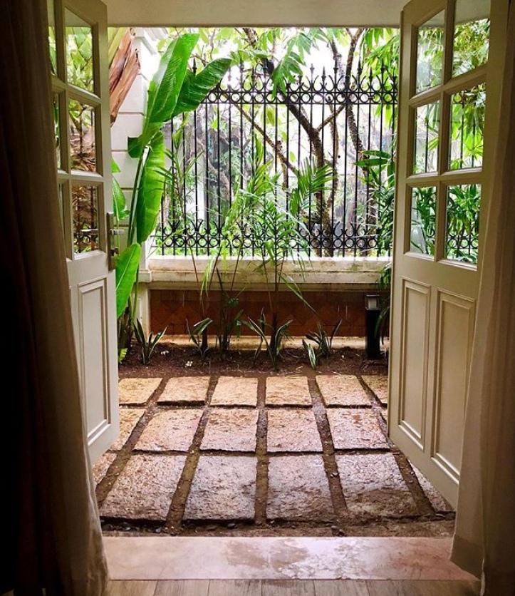 Afternoon rains at Sagon's Villa Song ...