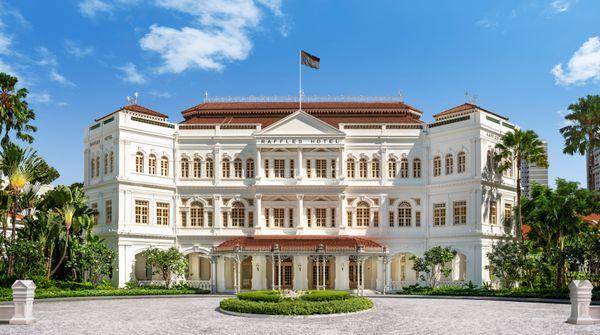Raffles Singapore Hotel Facade_Day